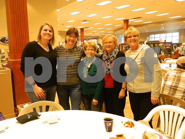 Right to left: Barb Vonsak, Bonnie Yoder, Kathy Messerly, Karen Thode, and Tiffany Thode
