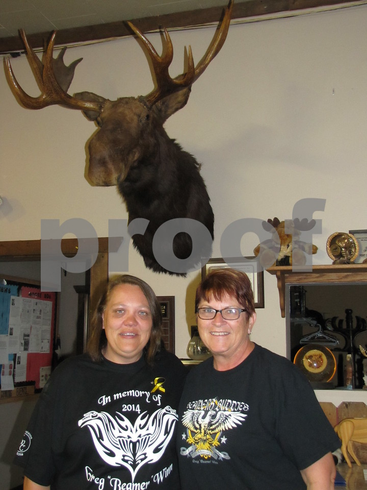 Moose Lodge members helping out for the event were Becky Grazier and Kathy Dencklau.