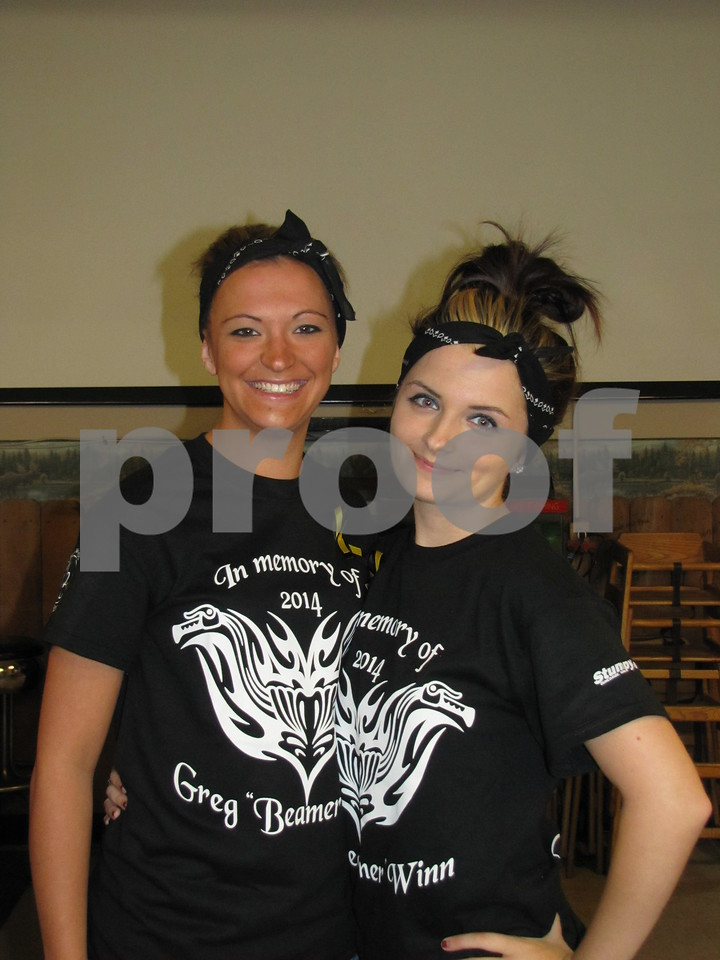 Kallie Kuebler and Bailey Donnelly, granddaughters in the Winn family, were helping with the event also.