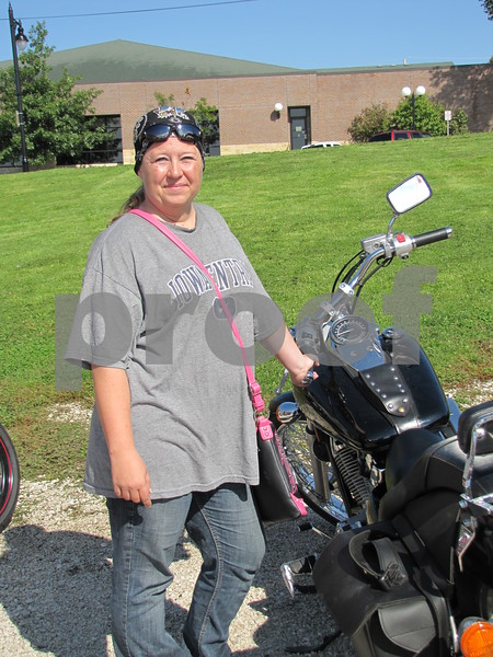 Cora Selhaver beside her bike before the ride.