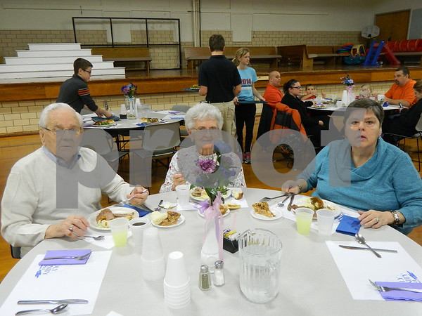 left to right: Vicki, Vivian and Ralph Rotert