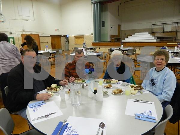 left to right: Ron Johnson, Jim Riley, Peg Riley, Elaine Johnson