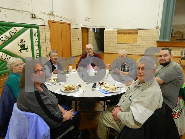 left to right: Paulette Monahan, Florence Strain, Frances Gochenouer, Robert Strain, John Marmal, Jason Strain, Paul Monahan