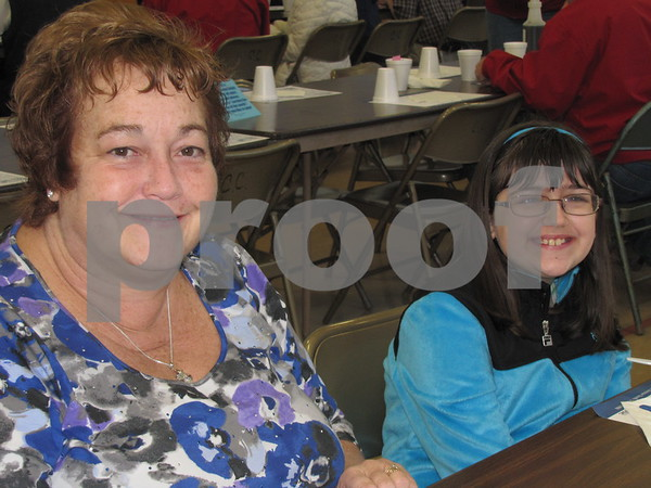 Linda Donner and Alex Tiernan are all smiles after enjoying the Kiwanis' breakfast.