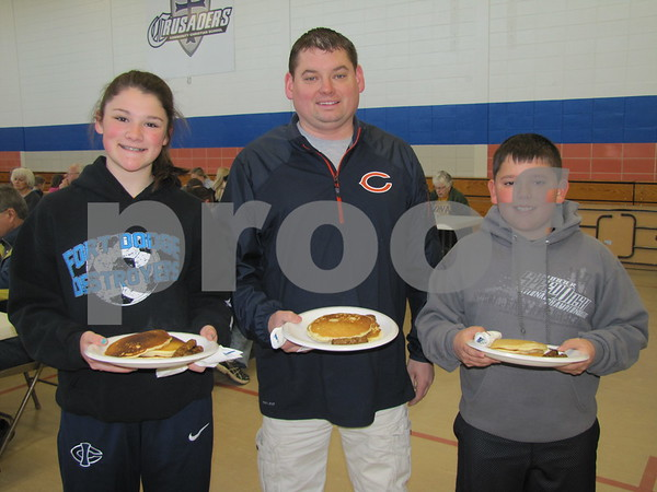 Mara, Jeremy, and Tyler Crimmins attended the annual Kiwanis Pancake Day.