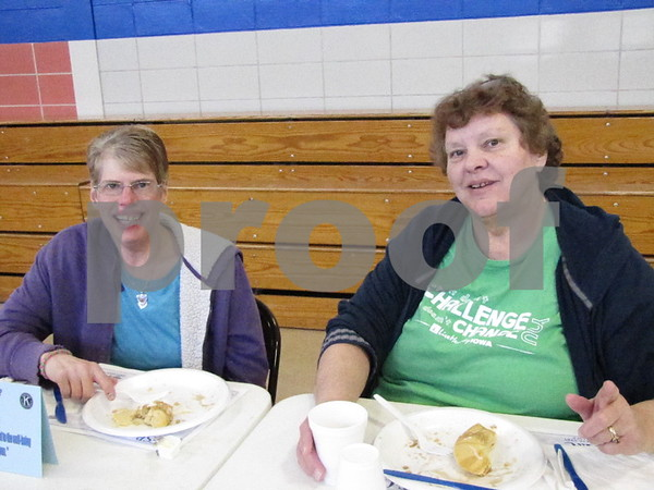 Lori Breeden and Ivy Carnelley attended the annual Kiwanis Pancake Day.