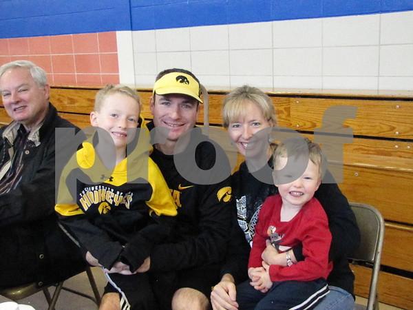 Micah, Ryan, Lisa, and Noah Flaherty enjoyed breakfast at the Kiwanis Pancake Day.