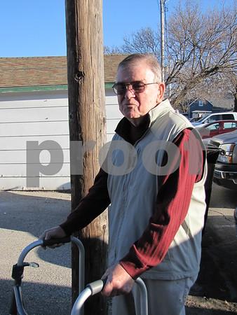 Dale Wooten, Sr. came to enjoy the Kiwanis' annual Pancake Day breakfast.