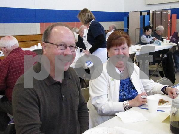 Dean and Connie Stuhrenberg at the annual Kiwanis Pancake Day.