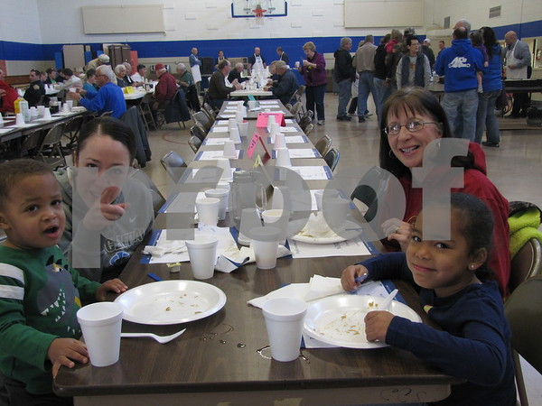 Braylon and Carrie Rock, and Mary Ann Black and Jade Rock attended Kiwanis Pancake Day.