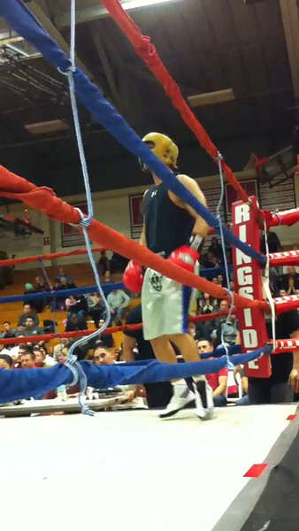 National Latino Peace Officers Association Third Annual Tuition Knock Out Scholarship Fundraising Boxing match with Aurora Police Officer Greg Christoffel vs Melrose Police Officer Sgt. Raul Rodriguez at East Aurora High School in Aurora, Ill 11-16-14