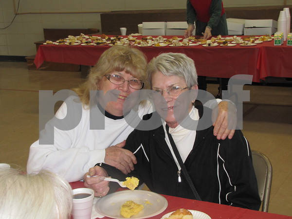 Phyllis Prochaska and Jolene Arandson attended the YSC Omelet Breakfast with Santa.