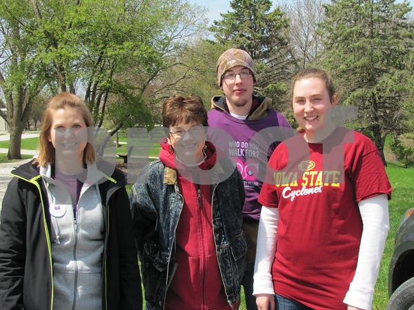Tina Leonard, Kris Hillmer-Pierson, Michael Pierson, and Kelsie Mitchell were organizers/greeters at the benefit.