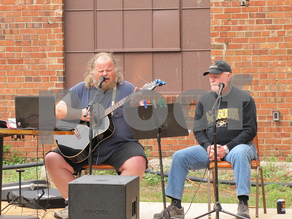 Chip Evans and Mike Hogan donated their time and talent to provide live music for the Eagles 45th Anniversary Celebration.<br /> Jeremy Ober, also donating his talents, performed after Evans and Hogan.