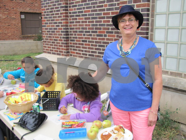 Sandy Mercer oversaw the children's table at the Eagles 45th Anniversary Celebration.