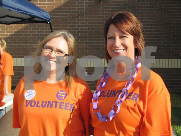 Volunteers Joyce Aljets and Beth Freeman