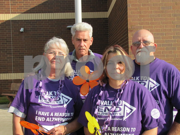 Barbara and Francis Wood, and Angie and Jim Gardner before they began the Walk for Alzheimers.