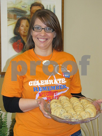 Brianne Lundberg, volunteer, was on hand to greet and assist guests at the Relay For Life fundraiser.