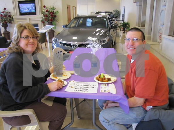 Janet and Jon Clark enjoyed the variety of wings while supporting a good cause, 'Wing It' for Relay For Life.