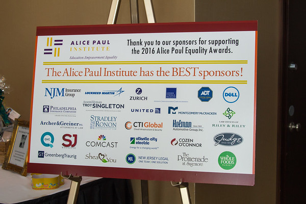 Alice Paul Institute Equality Awards 2016