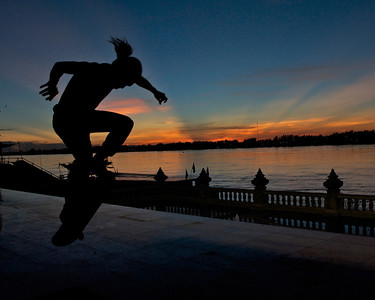 Evening Session on the Mekong River Nong Khai, Thailand Proceeds go to Skateistan Note: this is sized as an 8x10 image. If you order a different size, make sure you check the crop and adjust if necessary (it's easy to do) in checkout.