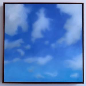 """Opus 52   39"""" x 39""""   oil on canvas   2020   $2200 (framed)"""