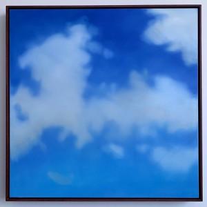 "Opus 54 (Pair right)   39"" x 39""   oil on canvas   2020   $2200 (framed)"