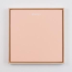 """always   12"""" x 12""""   acrylic on mdf board   2020   $600 (framed)"""