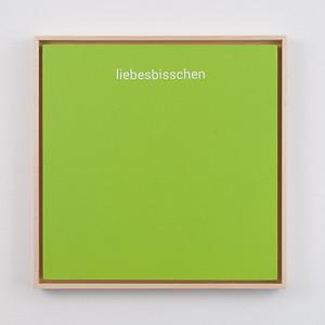 "liebesbisschen   12"" x 12""   acrylic on mdf board   2020   $600 (framed)"