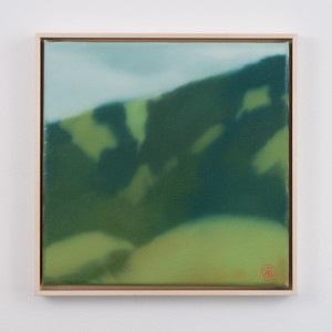 "hilltops   12"" x 12""   oil on canvas   2020   $600 (framed)"