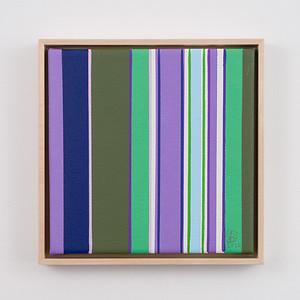 """purple rain   8"""" x 8""""   acrylic on canvas   2020   $350 (framed)"""