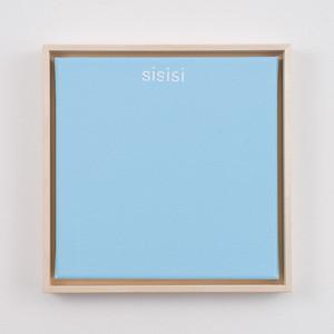 """sisisi   8"""" x 8""""   acrylic on canvas   2020   $350 (framed)"""