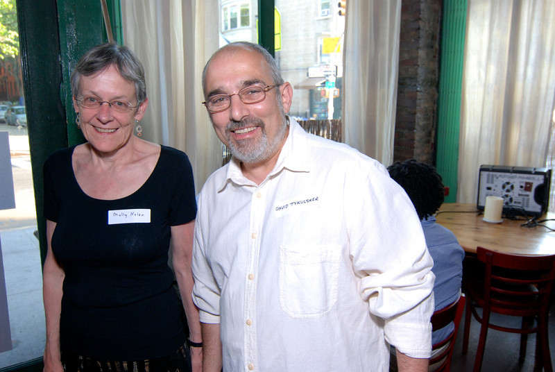 Molly Nolan of BFP's Israel-Palestine Committee and BFP's Co-Chair, David Tykulsker,  helped make the fundraiser a huge success.