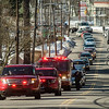 "The funeral procession of Fitchburg Firefighter Jack Mulcahy makes its way up Main Street on the way to Our Lady of the Lake Church in Leominster on Monday, March 20, 2017. Jack ""Mulky"" Mulcahy, who served 41 years on the department, died Wednesday, March 15, after a 16-month battle with pancreatic cancer. He was 63. SENTINEL & ENTERPRISE / Ashley Green"