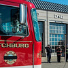 "The funeral procession of Fitchburg Firefighter Jack Mulcahy makes a stop at Central Station for a wreath-laying ceremony on Monday, March 20, 2017. Jack ""Mulky"" Mulcahy, who served 41 years on the department, died Wednesday, March 15, after a 16-month battle with pancreatic cancer. He was 63. SENTINEL & ENTERPRISE / Ashley Green"