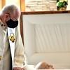 Fr. Ed says good-bye to his novitiate classmate