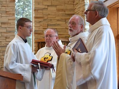 Frater Justin Krenke, Dn. David Nagel, Fr. Ed Kilianski and Fr. John van den Hengel