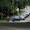 EXCHANGE-The funeral procession for Vanessa Marcotte at Our Lady of the Lake Church works it way up Main Street in Leominster. SENTINEL & ENTERPRISE/JOHN LOVE