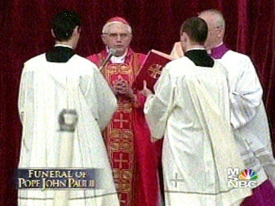 2005 04-08  Pope John Paul's Funeral