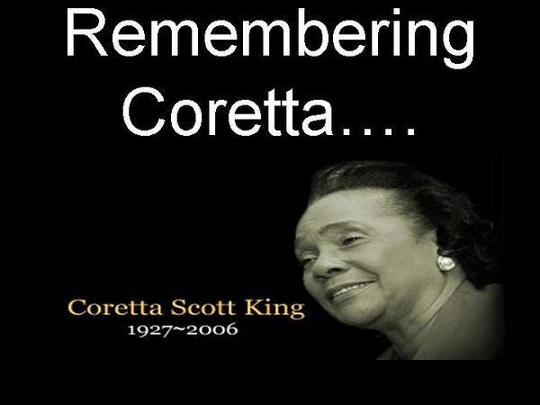 Coretta Scott King 1927-2006.