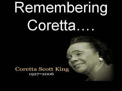 Coretta Scott King 1927-2006.