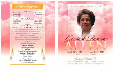 In Celebrating the Life of Gertrude R Allen