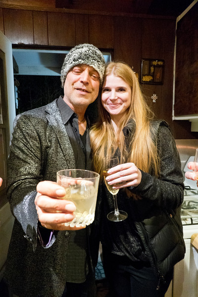 2019.03.14_Freddy Clarke's wake at their home for his mother Pearl;  (L-R) Freddy Clarke and Kimberly Kilbride.