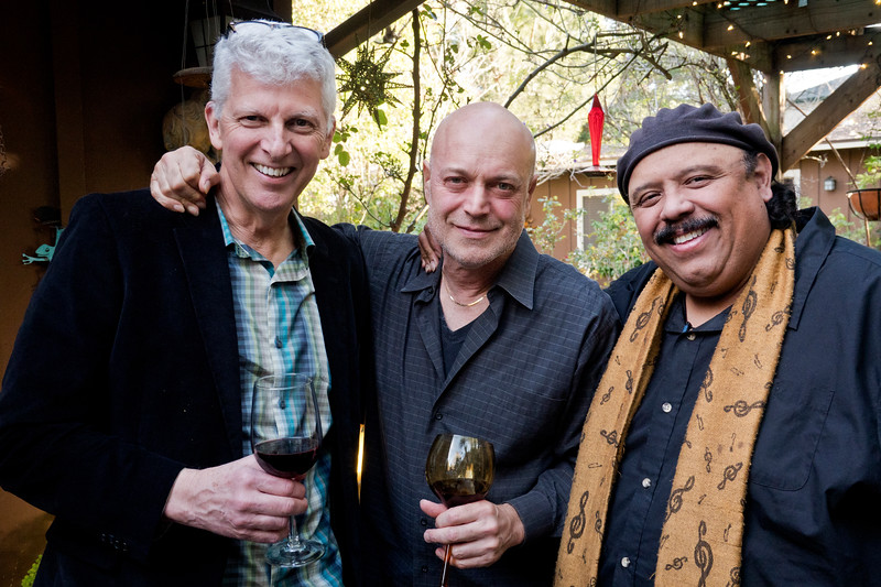 2019.03.14_Freddy Clarke's life celebration at their home for his mother (L-R) Ray McNaughton; Freddy Clarke; Carlos Reyes