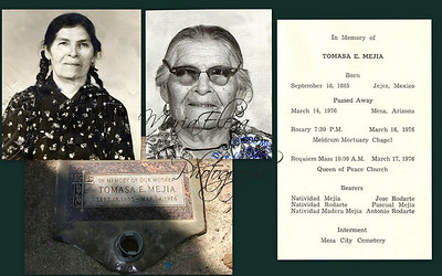 My abuelita (grandmother), my father Jose M. Mejia's mother we called her Tita.