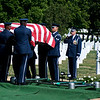 USAF Honor Guard places the casket on the grave. Arlington National Cemetery, July 8, 2009