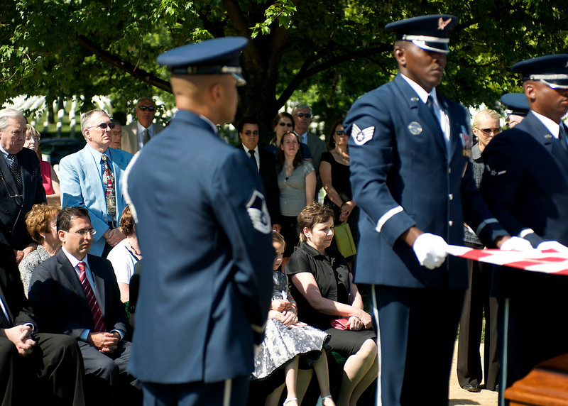 "Family and friends of Col. Clem Robert ""Bob"" Lawson USAF. Arlington National Cemetery, July 8, 2009"