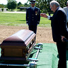"""Friends and family say a last goodbye at the funeral of Col. Clem Robert """"Bob"""" Lawson USAF. Arlington National Cemetery, July 8, 2009"""