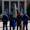 USAF Color Guard stands at parade rest, Ft. Myer, VA, July 8, 2009