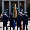 USAF Color Guard stands at parade rest, Ft. Myer, VA, July 8, 2009